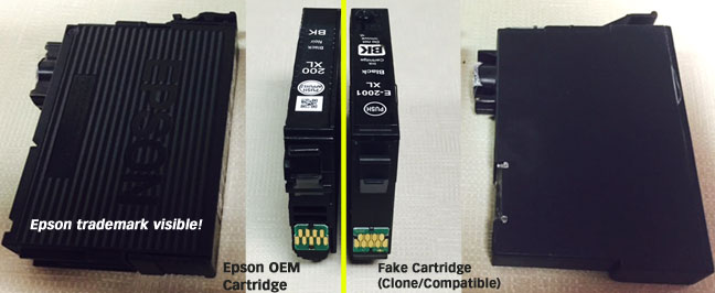Image result for Ink Cartridges Counterfeit. epson