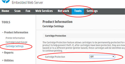HP Protected Cartridge Error – How to Disable | INKJET411
